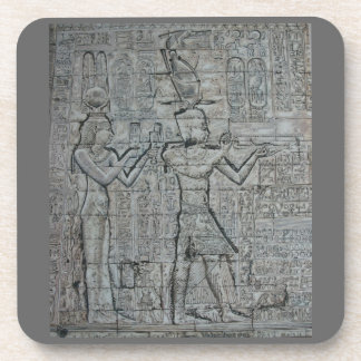 Cleopatra and Caesarion Drink Coaster