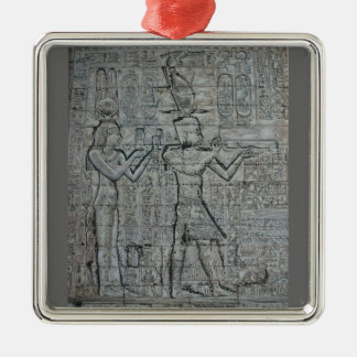 Cleopatra and Caesarion Metal Ornament