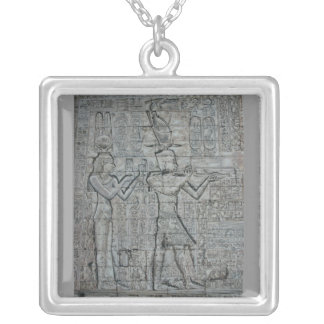 Cleopatra and Caesarion Square Pendant Necklace