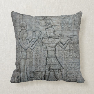 Cleopatra and Caesarion Throw Pillow