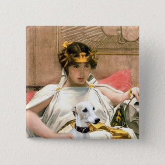 Cleopatra and White Whippet Pinback Button