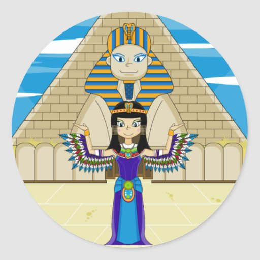 Cleopatra at the Great Sphinx Sticker