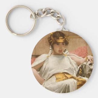 Cleopatra Basic Round Button Keychain