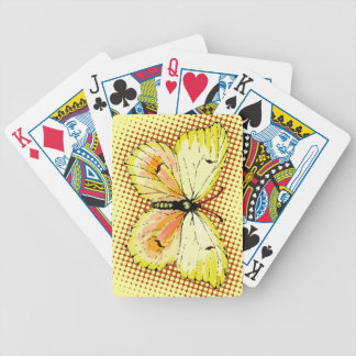 Cleopatra Butterfly - Beauty in Yellow & Orange Bicycle Playing Cards