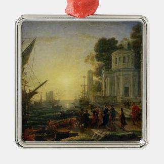 Cleopatra Disembarking at Tarsus, 1642 Metal Ornament