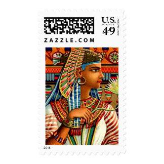 Cleopatra Egyptian Revival Vintage Art Stamp