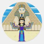 Cleopatra en el gran pegatina de la esfinge