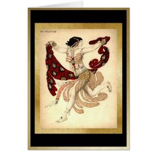 Cleopatra, para el ballet Russes por Bakst Tarjeta De Felicitación