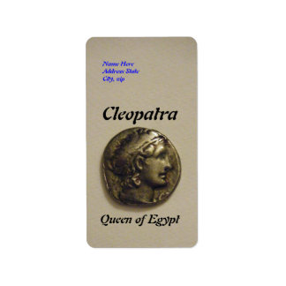 Cleopatra Queen of Egypt Address Labels