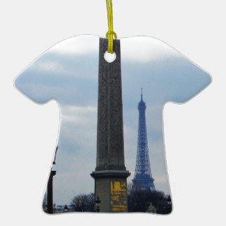 Cleopatra s Needle and Eiffel Tower Christmas Tree Ornaments