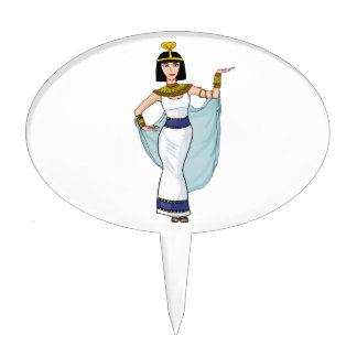 Cleopatra the Pharaoh of Egypt Cake Topper