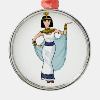 Cleopatra the Pharaoh of Egypt Metal Ornament