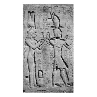 Cleopatra y Caesarion en el templo de Hathor Tarjetas De Visita