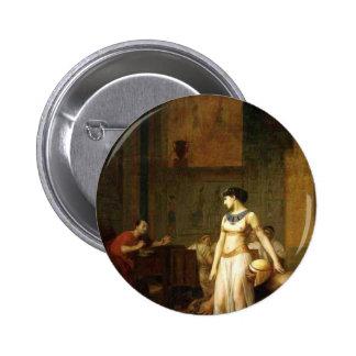 Cleopatra y César Pin Redondo 5 Cm
