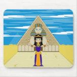 Cleopatra y gran esfinge de Giza Alfombrilla De Ratones