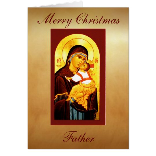 Clergy Card Merry Christmas Father