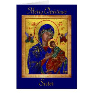 Clergy Card  Merry Christmas Sister