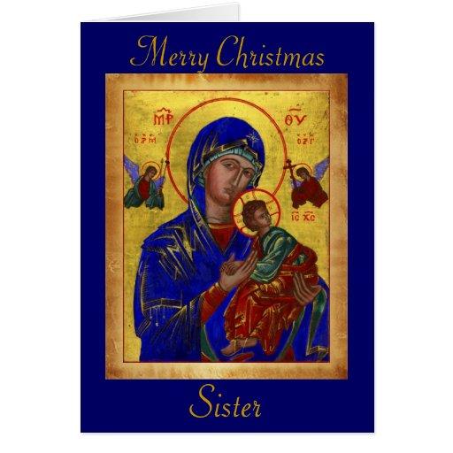 Clergy Card: Merry Christmas Sister