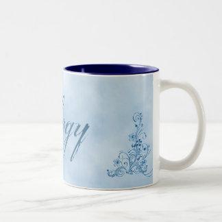 Clergy Coffee Mug- Large: Sky Blue Elegance Two-Tone Coffee Mug