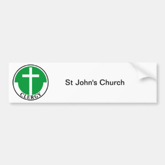 Clergy in Green Bumper Sticker