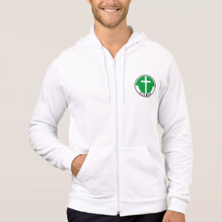 Clergy in Green Hoodie