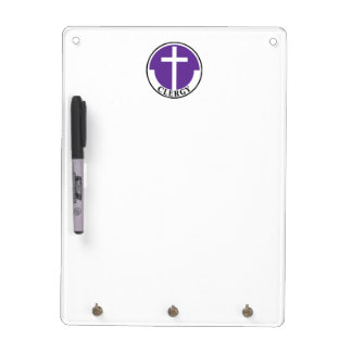 Clergy in Purple Dry-Erase Board
