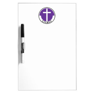 Clergy in Purple Dry Erase Board