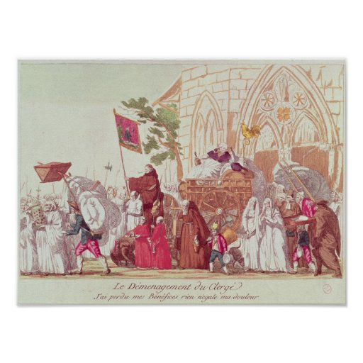 Clergy Leaving the Church after the Sale Print