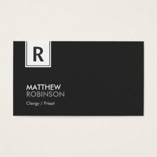 Clergy / Priest - Modern Classy Monogram Business Card