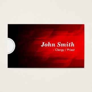 Clergy / Priest - Modern Dark Red Business Card