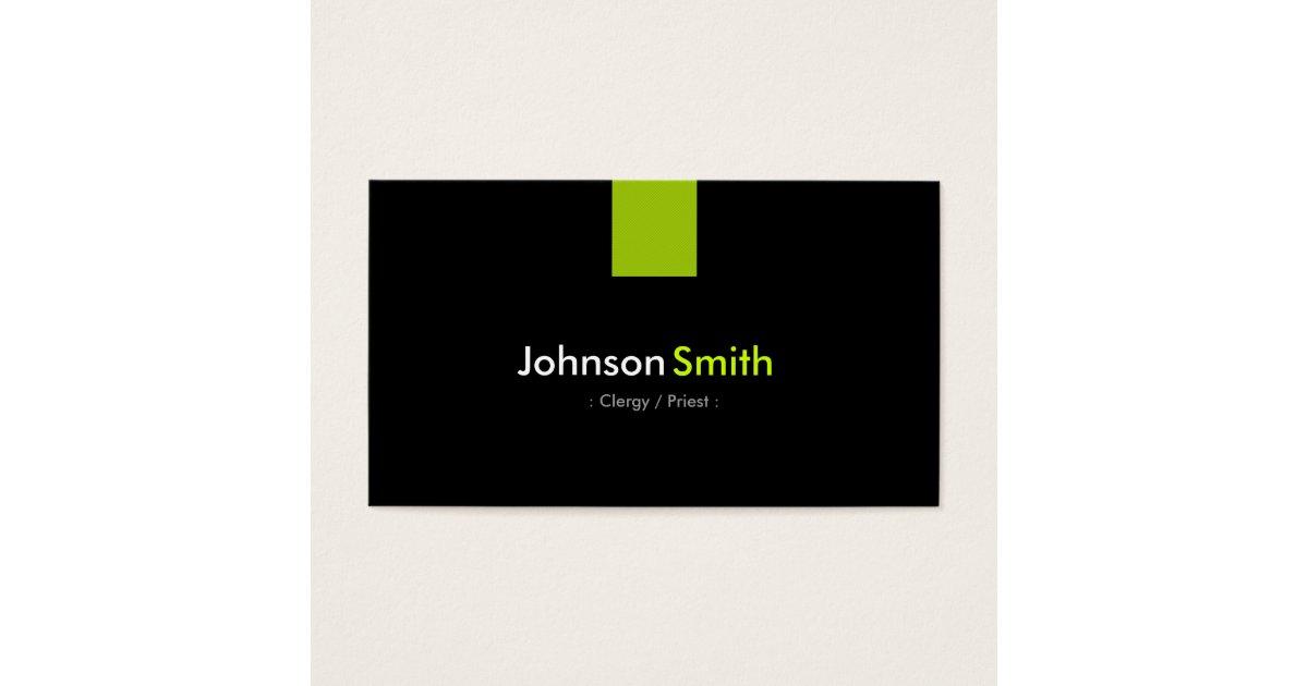 Clergy / Priest Modern Mint Green Business Card | Zazzle.com