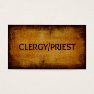 Clergy Priest Wood Grain Business Card