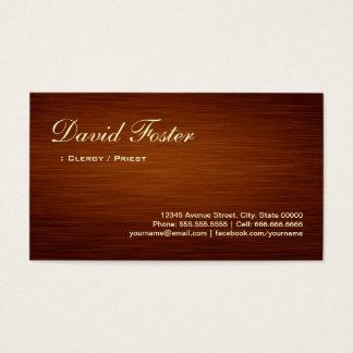 Clergy / Priest - Wood Grain Look Business Card