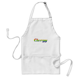 clergy - rainbow adult apron