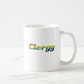 clergy - rainbow coffee mug