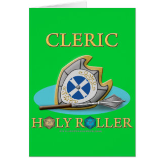 Cleric Holy Roller Greeting Cards