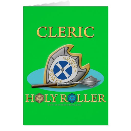 Cleric: Holy Roller Card | Zazzle