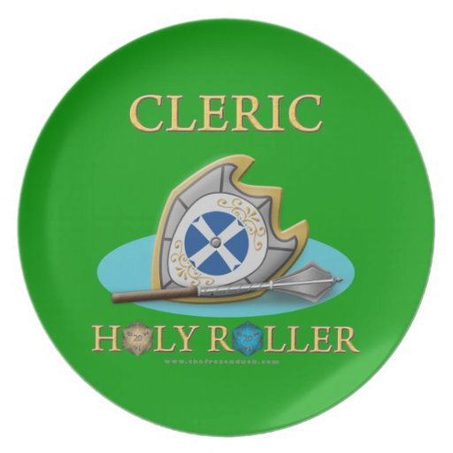 Cleric: Holy Roller Dinner Plate
