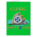 Cleric: Holy Roller Greeting Cards