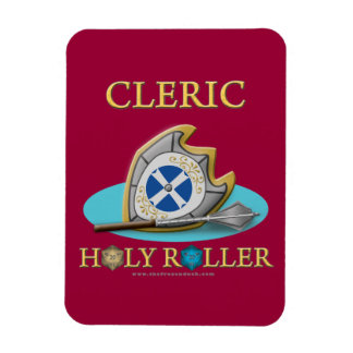 Cleric: Holy Roller Vinyl Magnet