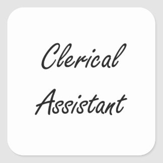 Clerical Assistant Artistic Job Design Square Sticker