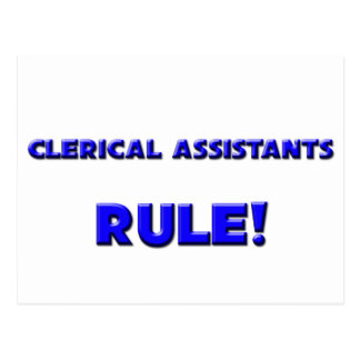 Clerical Assistants Rule! Post Card