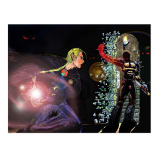 Clérigo de sexo femenino de la batalla de Elfen de Postal