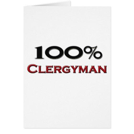 Clérigo del 100 por ciento felicitacion