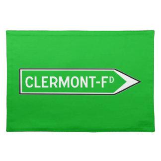 Clermont-Ferrand, señal de tráfico, Francia Manteles