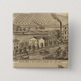 Clermont Woolen Mills Button