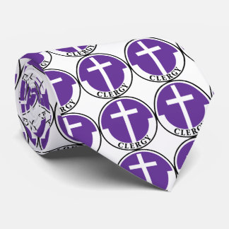 Clero en púrpura corbata personalizada