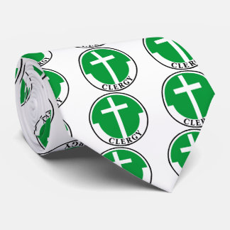 Clero en verde corbata personalizada