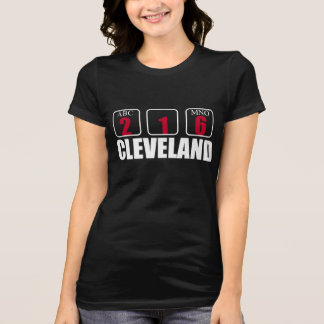 CLEVELAND 216 AREA CODE graphic tee