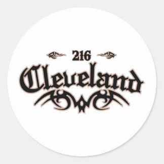 Cleveland 216 etiqueta redonda